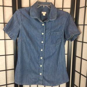J Crew Denim Shirt. XS